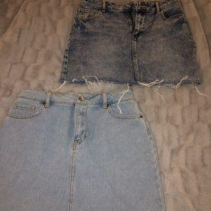 Pacsun jean skirts